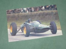 JIM CLARK Lotus 25. 1963 French GP Postcard (Card School)